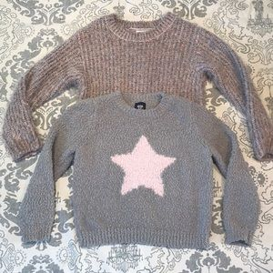 H&M and Route 66 Girls Plush Sweaters sz 6